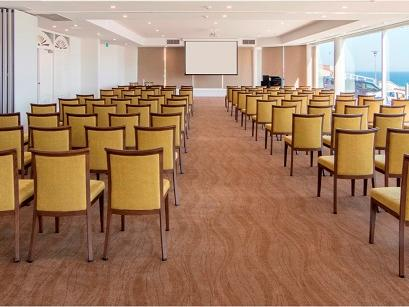 Ballroom with chairs lined up in rows
