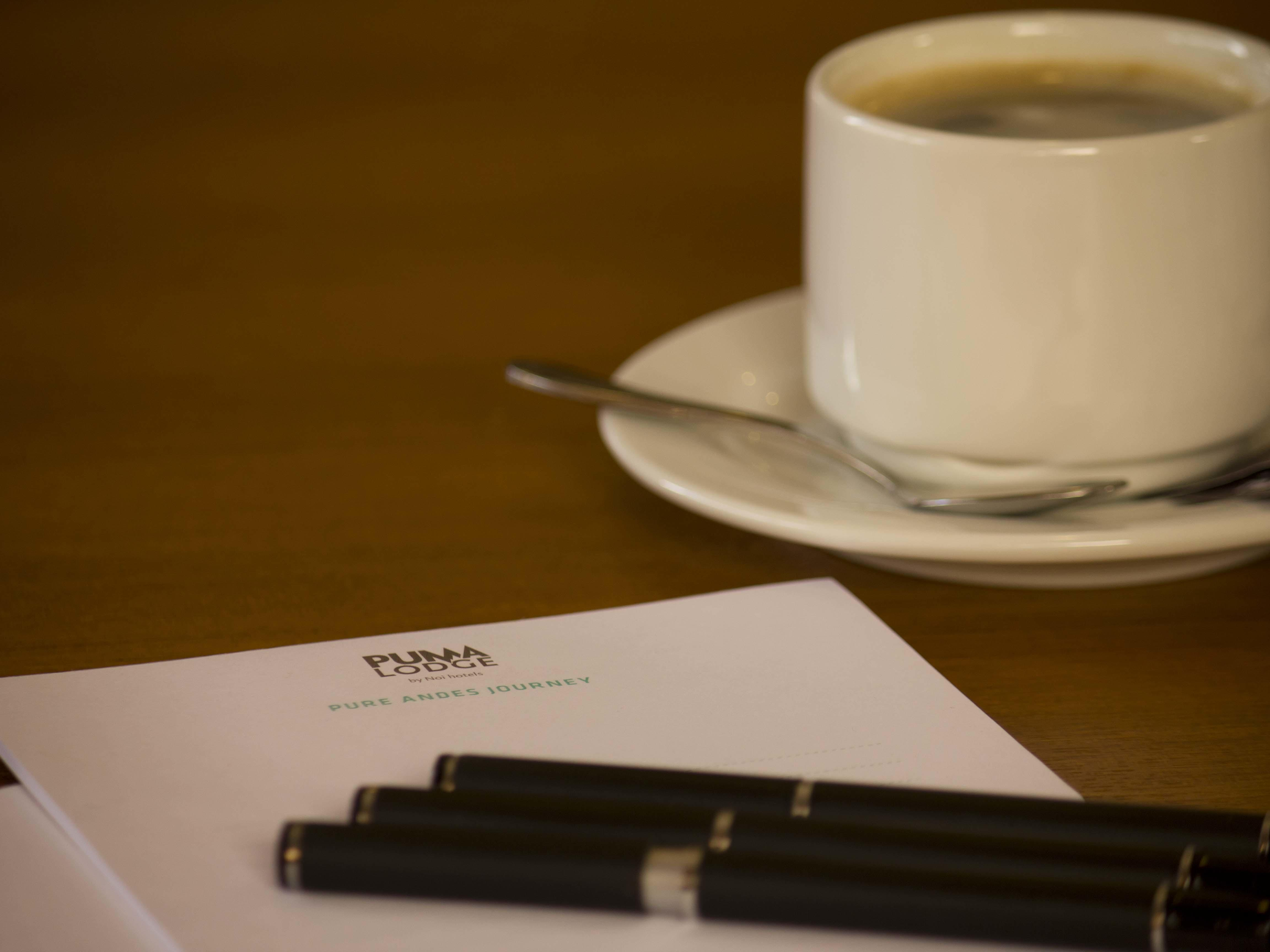 Paper Pen and Coffee