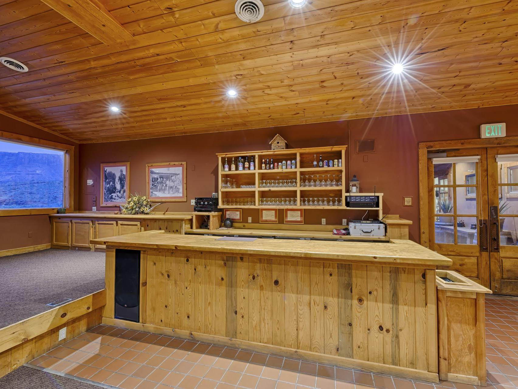 conference bar area