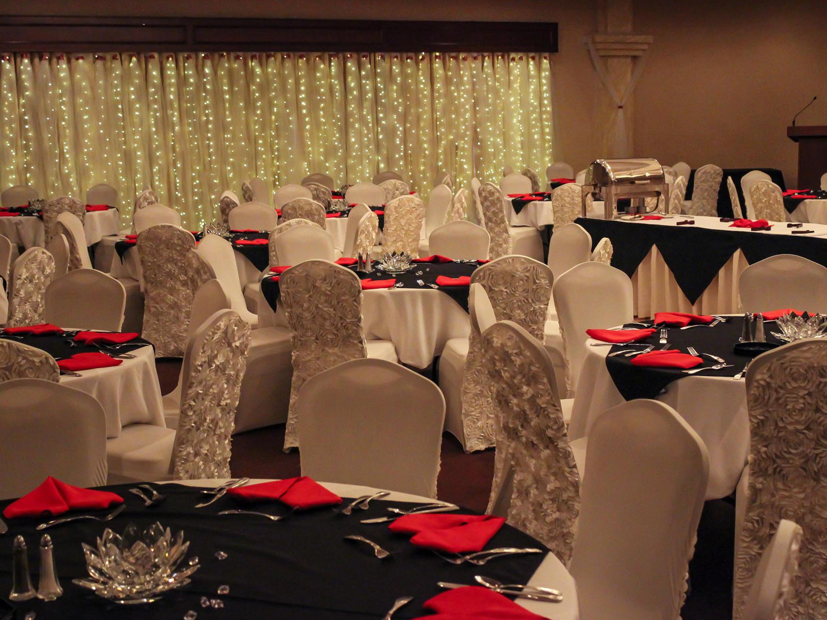View of the spacious Borealis Ballroom at Wedgewood Resort