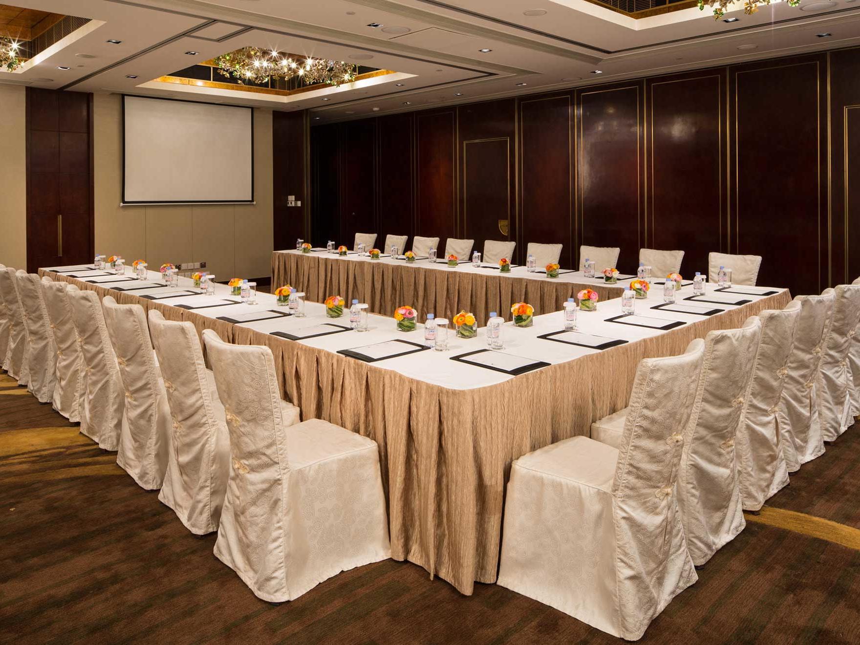 White themed U shaped conference hall at  Artyzen Grand Lapa Hotel Macau