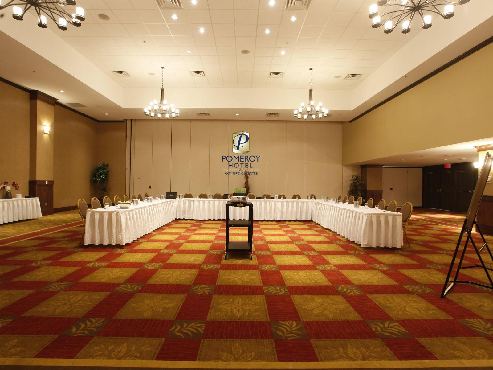 a u-shapped conference table