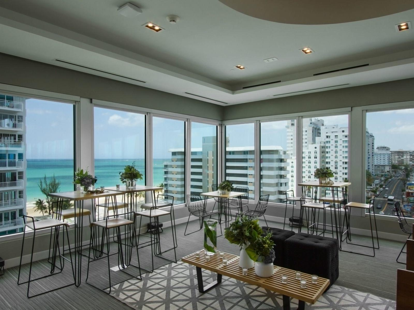 meeting room with beach view