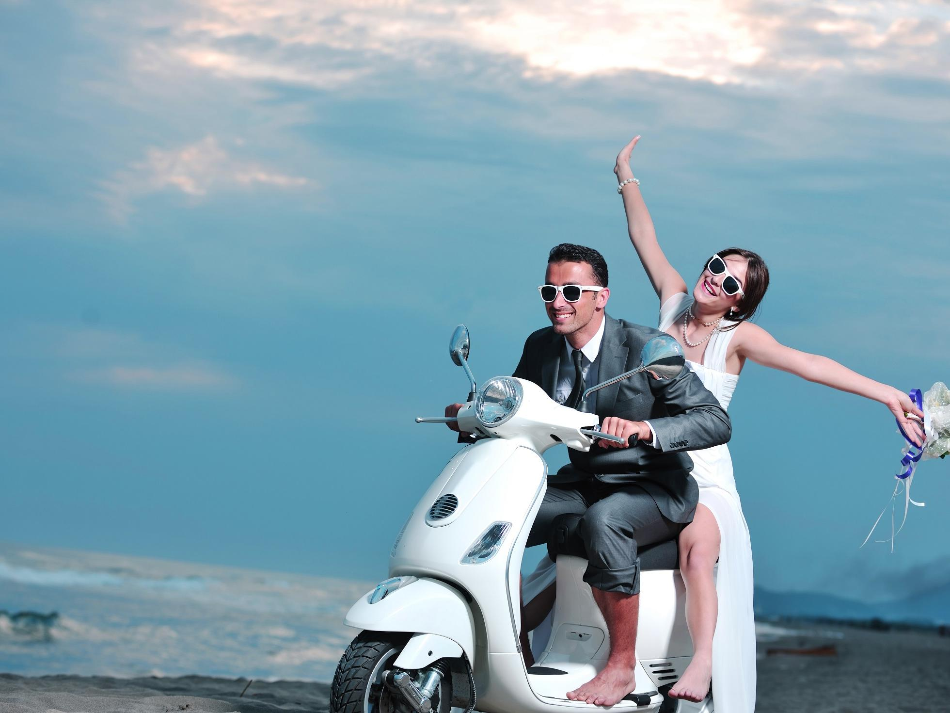 Couple riding a bike at Grand Coloane Resort