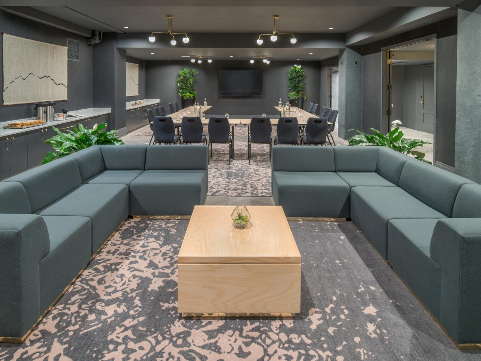 conference room with mixed seating