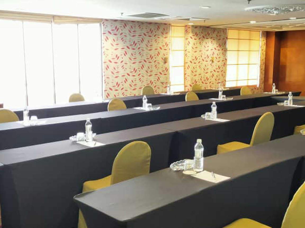 The arranged Kuala Pilah meeting room with chairs and tables