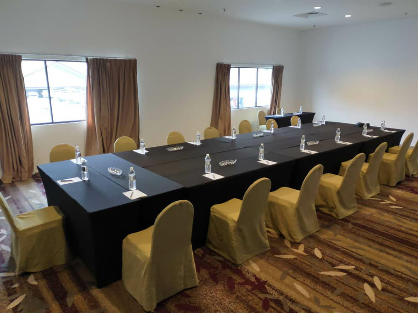 The arranged Cumberland meeting room with chairs and a table