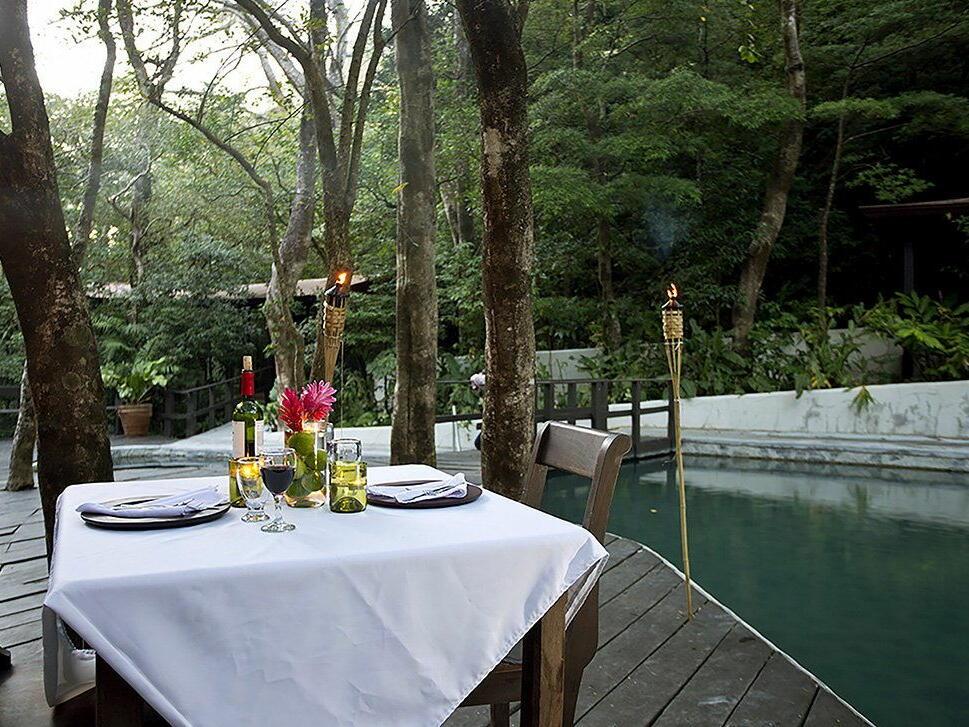 Outside Dining Table near Pool at Buena Vista Del Rincon