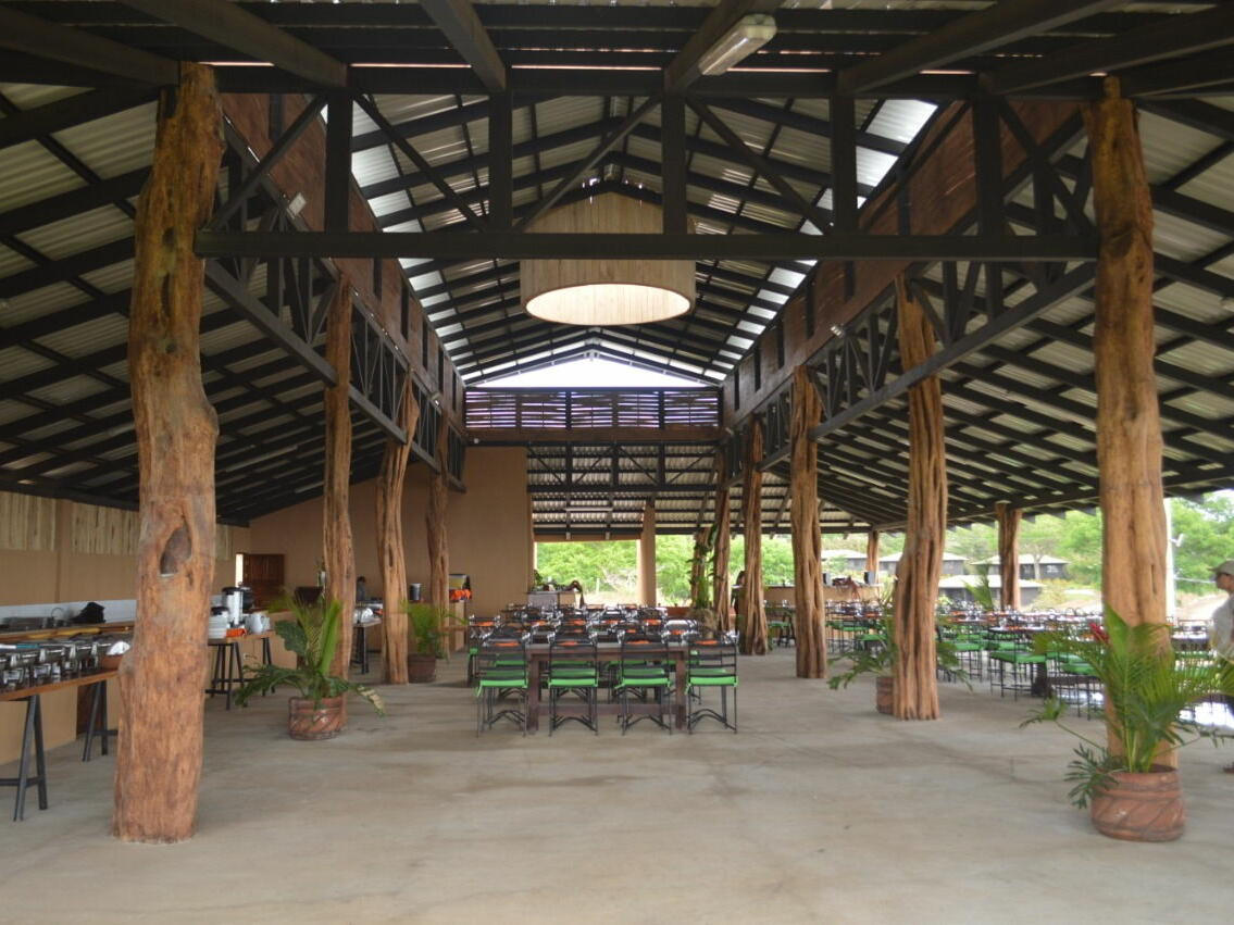 Dining Hall Supported by Wood Pillars at Buena Vista Del Rincon