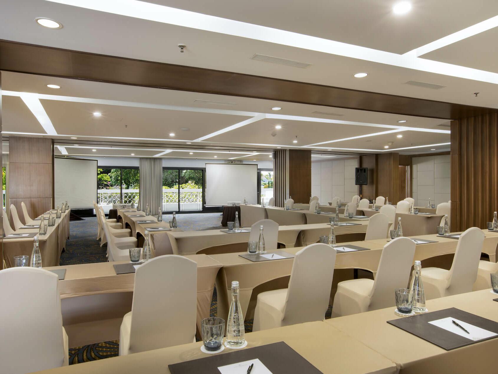 The arranged Kencana Room at Royal Ambarrukmo Yogyyakarta