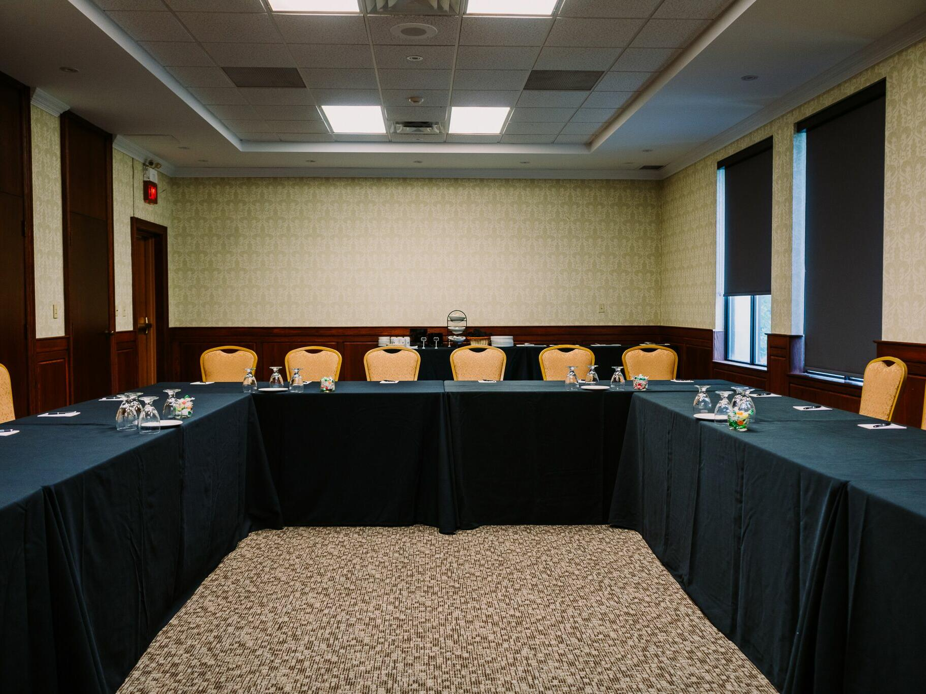 spacious conference hall with u table at The Inn of Waterloo