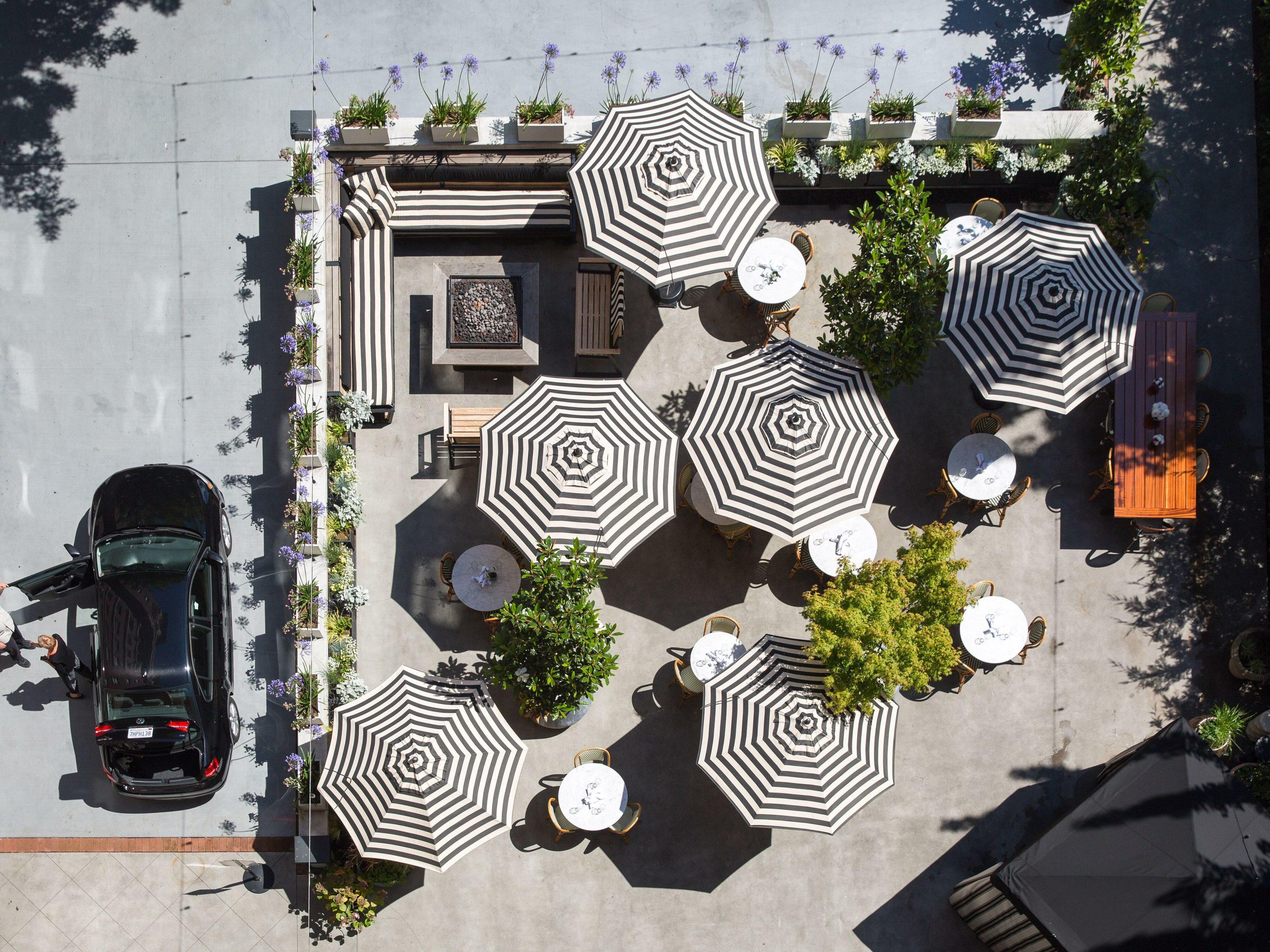 Hotel Sorrento STELLA. Garden Overhead Shot