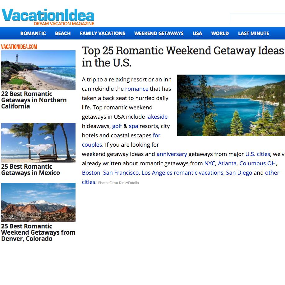 vacation idea screenshot