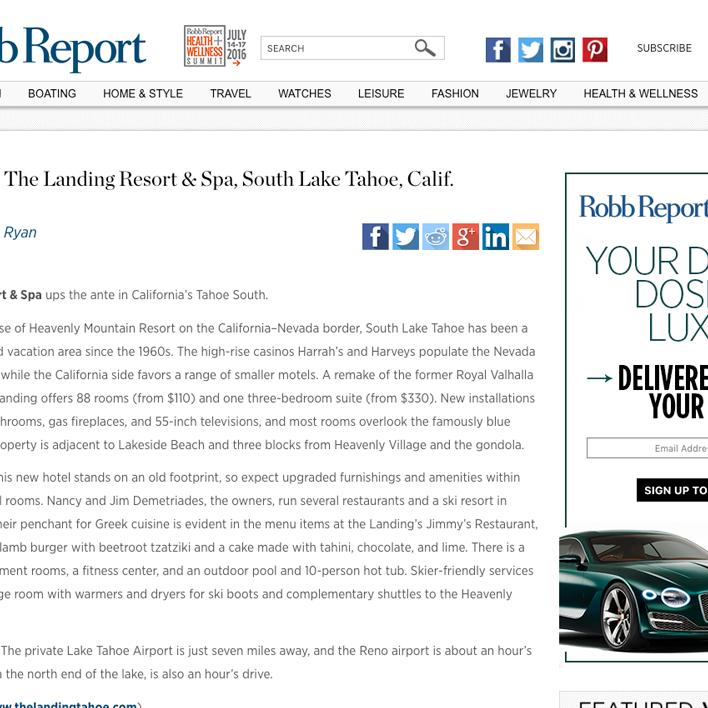 robb report screenshot