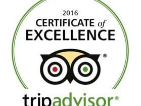 CERTIFICATE OF EXCELLENCE BY TRIP ADVISOR