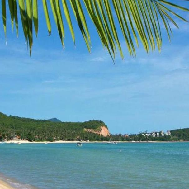 The First U Hotel and Resort in Samui with beach side view