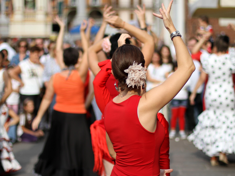 Flamenco street show