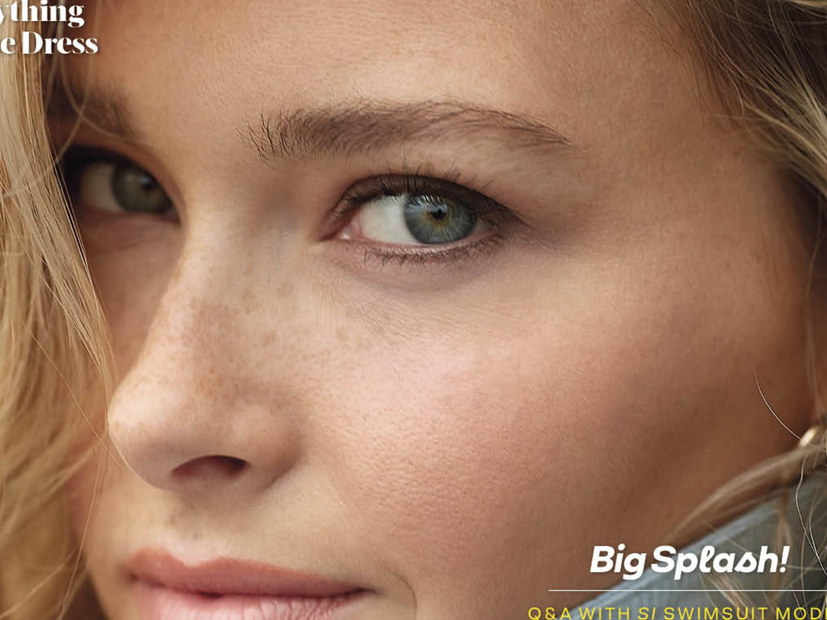 Close up image of woman's face