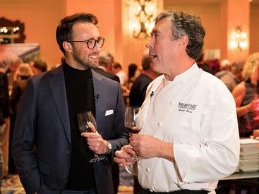 Chef speaking with Boston Wine Festival attendee