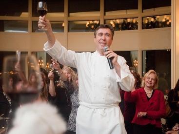 Chef addressing Boston Wine Festival attendees