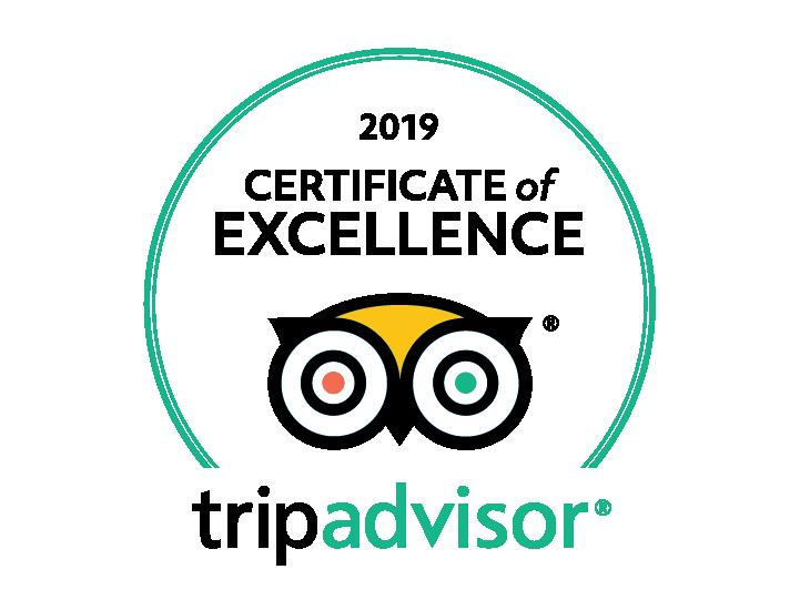 Tripadvisor 2019 Certificate of Excellence for Agapi Beach Resort