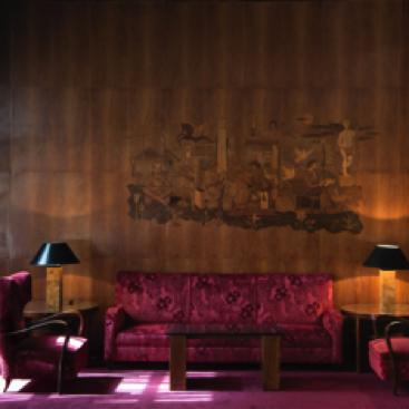 vista frontale sala lounge Bettoja Hotels