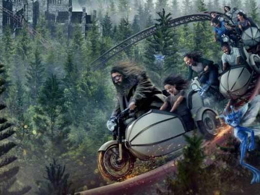 Hagrid's Motorcycle Adventure - Copyright Universal Studios