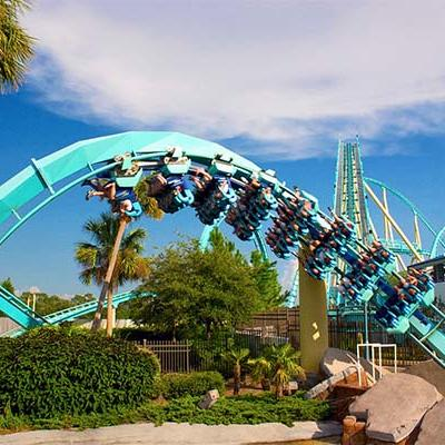 a roller coaster going upside down