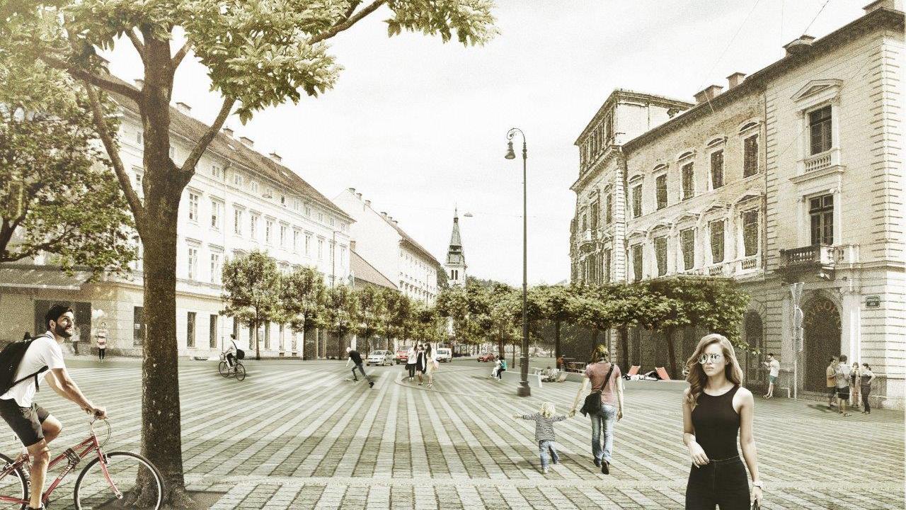 Gosposvetska road in Ljubljana