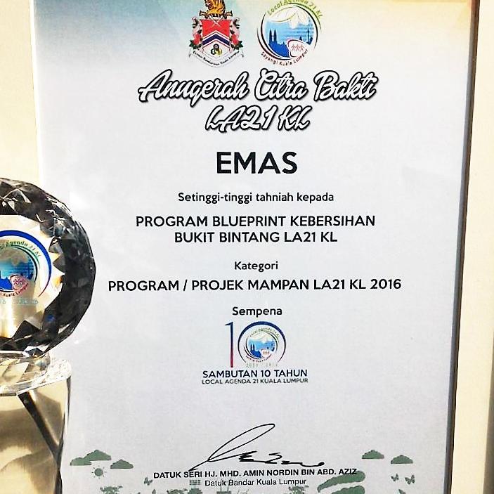 Golden Award From Local 21 KL