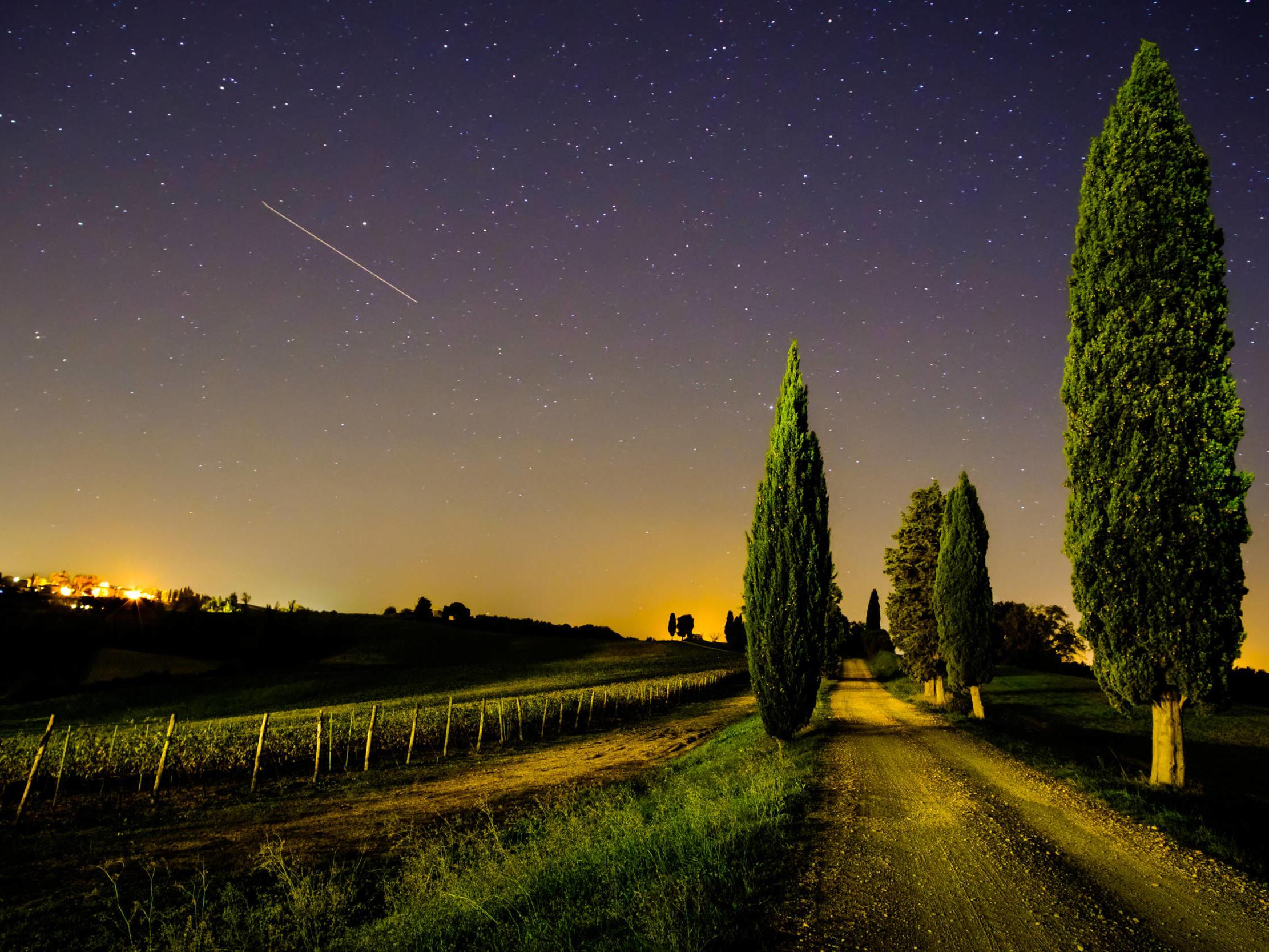 Campagna toscana di notte