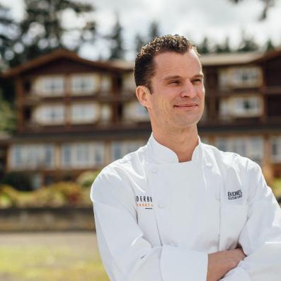 A photo of Ben Jones as Executive Chef at Alderbrook Resort