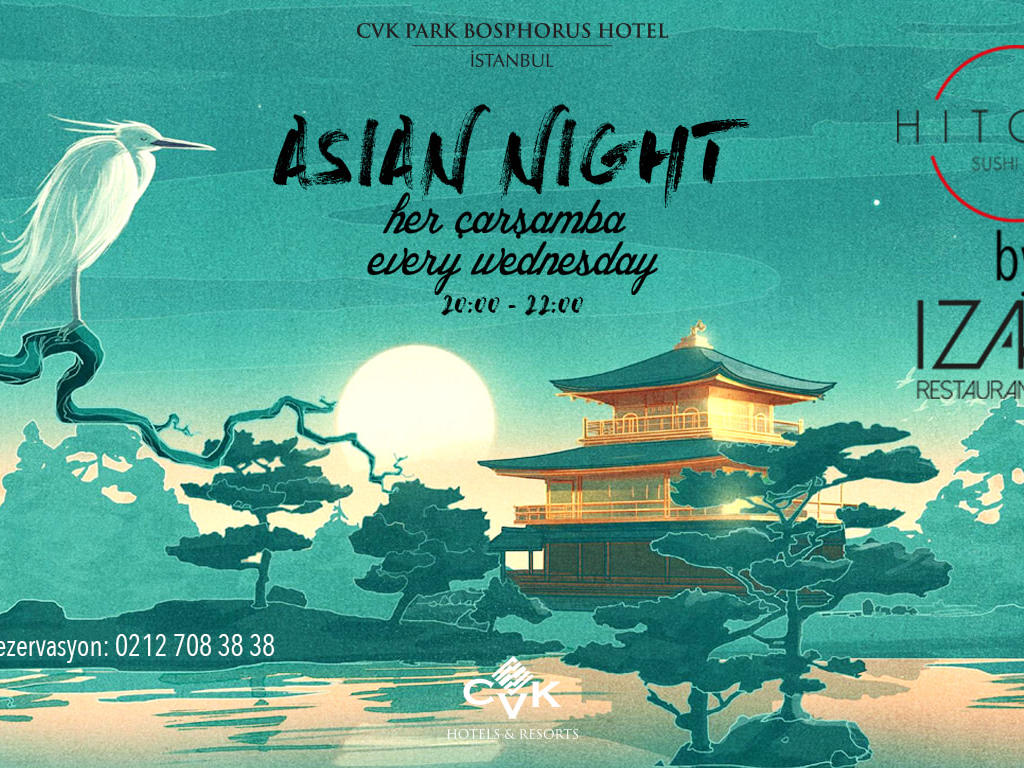 Asian Nights at IZAKA Restaurant & Bar in Istanbul