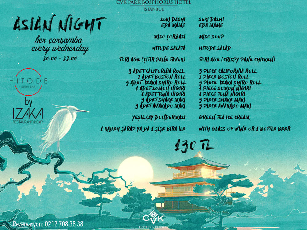 Asian Nights at IZAKA Restaurant & Bar in Istanbul