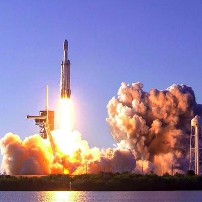 a space shuttle launching