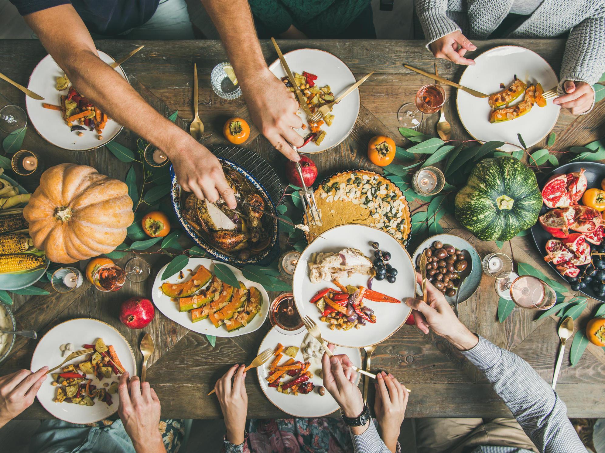 Tavola e cibo autunnali