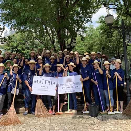 View of a cleanup campaign held by Maitria Hotel Sukhumvit 18