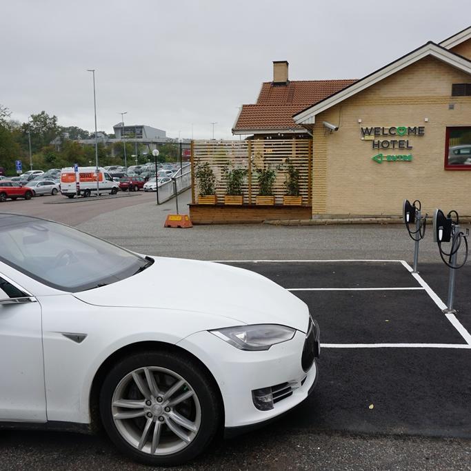 Tesla at Welcome Hotel in Järfälla, Sweden