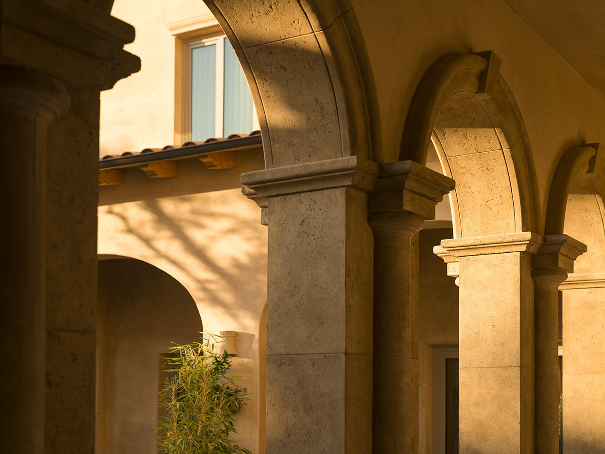 Allegretto arches at sunset