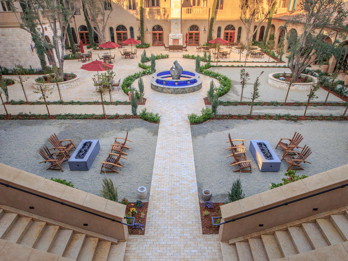 View of Allegretto Vineyard Resort courtyard