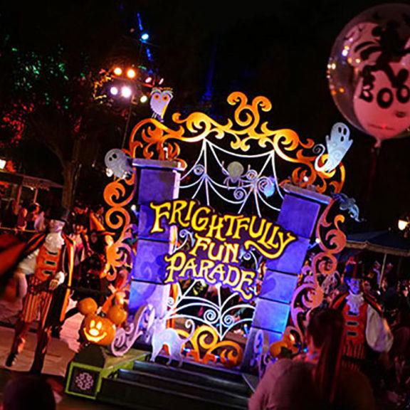 disney halloween parade sign
