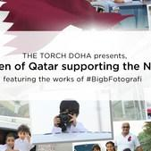 """Children of Qatar supporting the nation"""