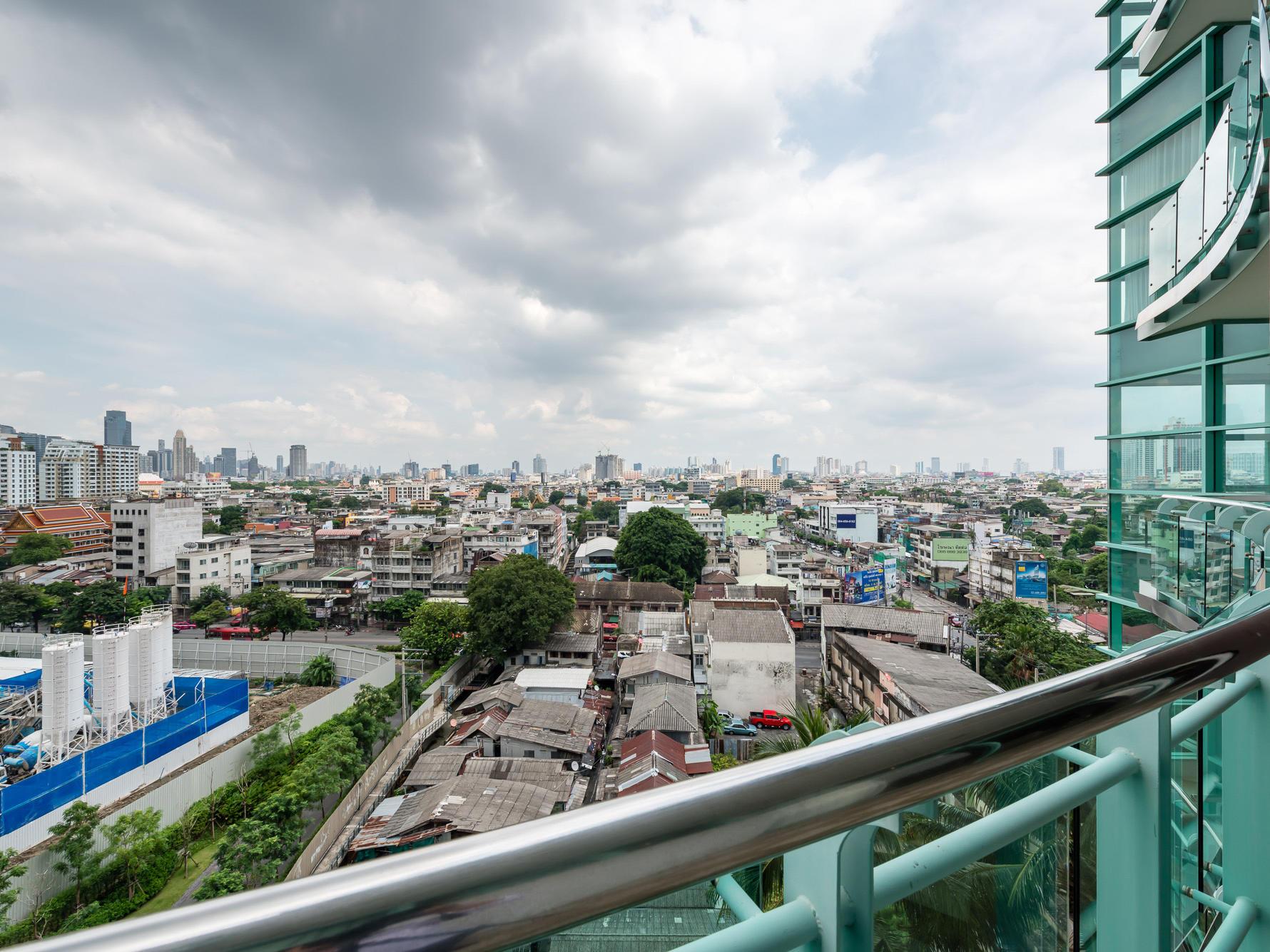City view from a balcony at Chatrium Hotel Riverside Bangkok