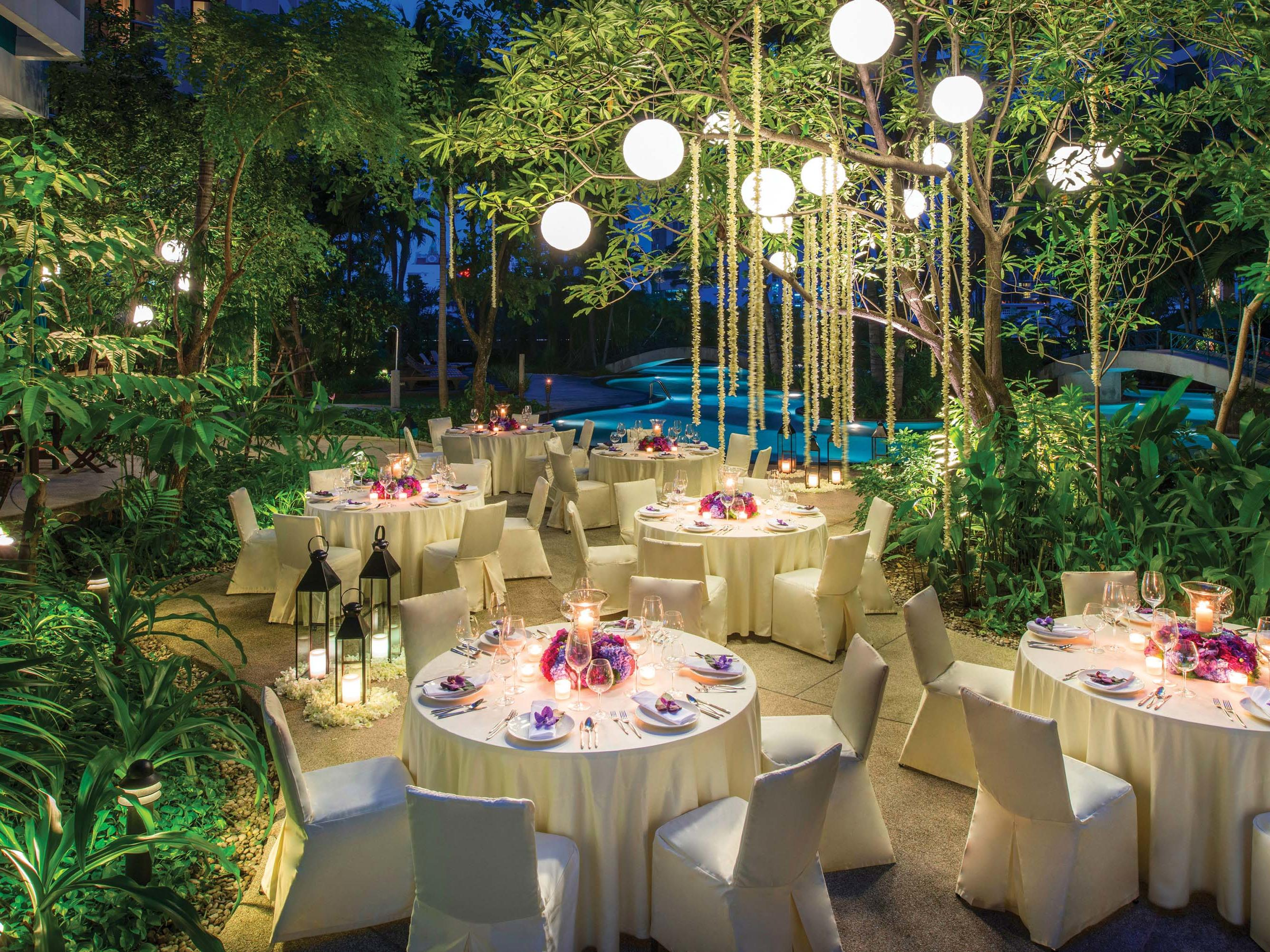 Outdoor celebration event at Chatrium Residence Sathon Bangkok
