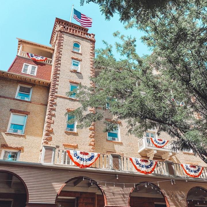 A festive Hotel Colorado on the 4th of July.