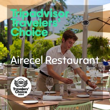 Tripadvisor award Airecel Restaurant 2020