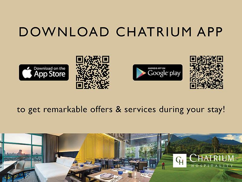 View of the Chatrium app