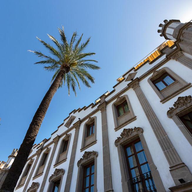 Fassade des Gebäudes des Gran Hotel Soller
