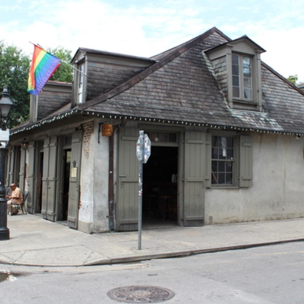 Exterior view of the Lafitte's Blacksmith Shop and Bar