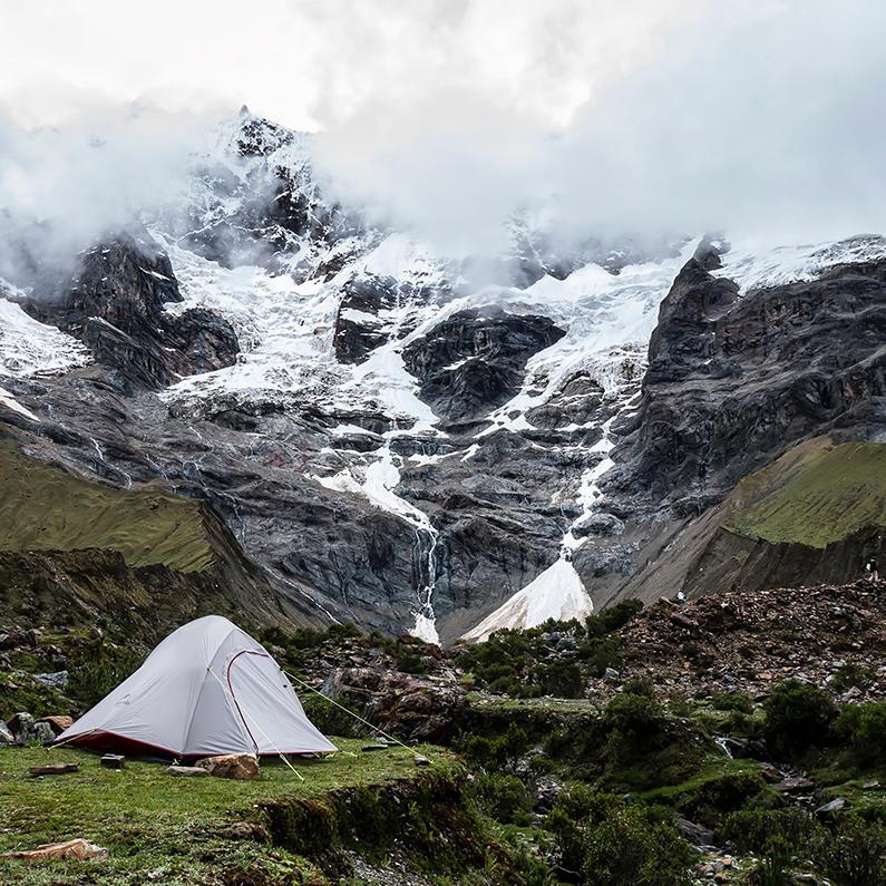 Camping in Salkantay route to Machu Picchu near Hotel Sumaq